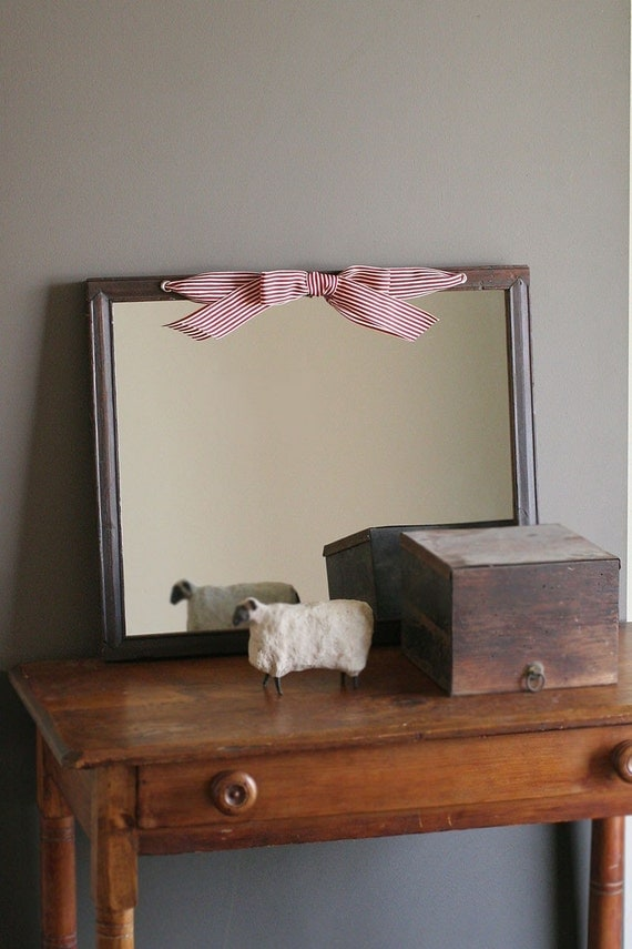 Large antique wood framed wall mirror recycled wood frame for Large wall mirror wood frame