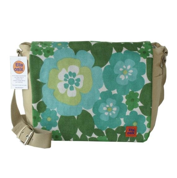 Genia - street bag customized with original vintage fabric