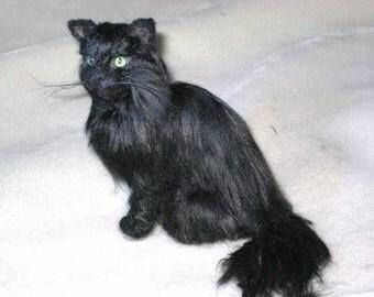 Needle Felted Cat / Custom Pet Portrait Handmade by Gourmet Felted