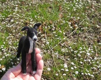 Needle Felted Dog / Custom Pet Portrait / Your Dog in Miniature by Fiber Artist GERRY / Lifelike / Poseable