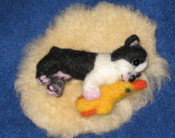 Needle Felted Dog /Custom Miniature Sculpture of your pet Cute/ Animated style / Cute small size / Dollhouse / Toy style