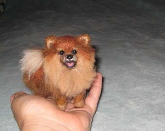 The Perfect Gift / Custom Pet Portrait direct from Artist / Gourmet Felted Original OOAK / example Pomeranian