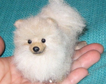 Needle Felted Dog / Custom Miniature Sculpture of your pet / cute / poseable small size