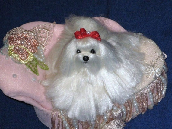 Custom Needle Felted Sculpture of your pet / Cute / poseable/ One of a Kind (OOAK)