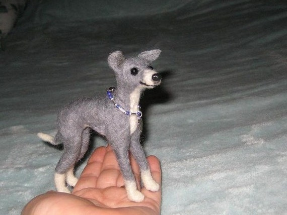 Needle Felted Dog / Custom Miniature Sculpture of your pet / cute / poseable