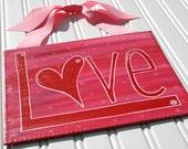 Festive Love Valentine Canvas