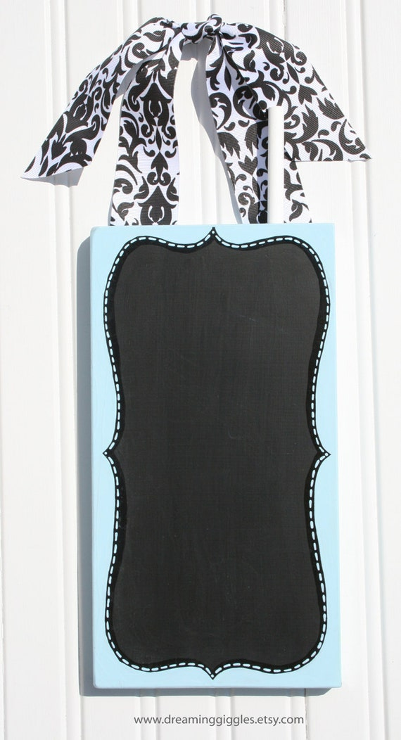 SaLe sALe  SalEAmazing Chalkboard Sign Blue and Black READY to SHIP