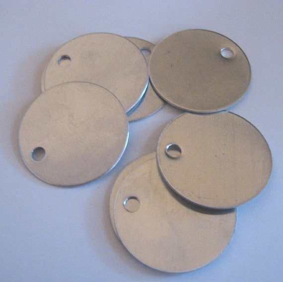 50 Large Round Blank Metal Stamping Tag 1 5 Inches By