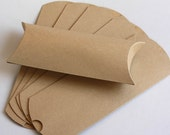 "24 Kraft Pillow Boxes - 9.25"" x 4.5"" x 2"""