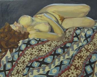 Figure on Southwest Blanket