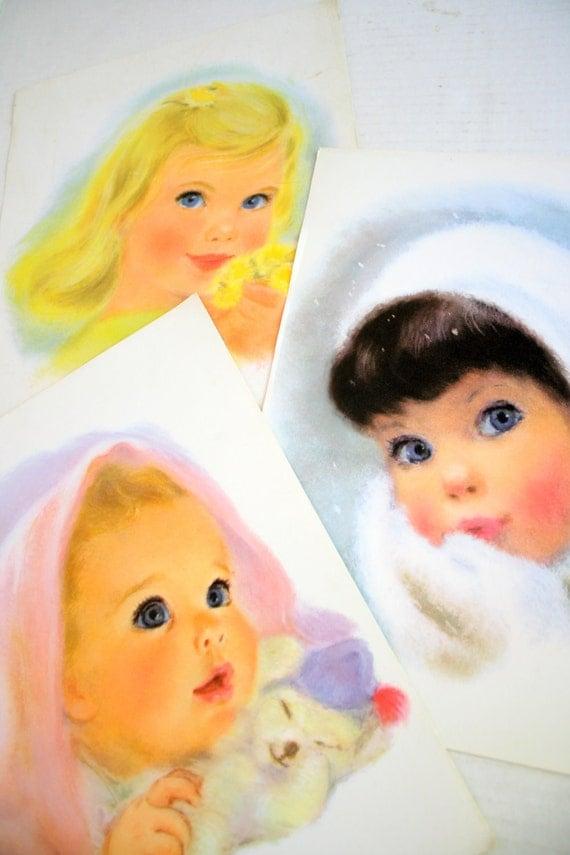 Sale Three Vintage Charmin Toilet Paper Girls 60s Advertising