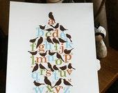 Alphabird Poster