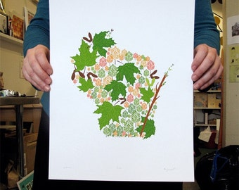 Wisconsin State Print