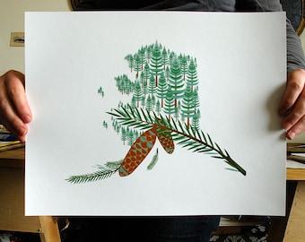 Alaska print 11x14