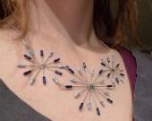 Blue Bursts resistor necklace