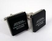 Microchip cufflinks