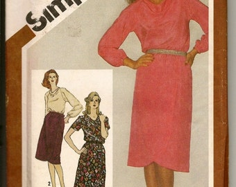 Simplicity Pattern  for Two-Piece Dress 80's style