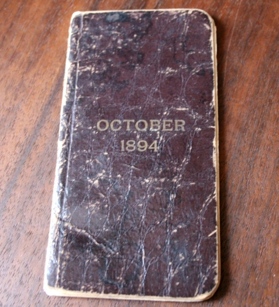 Small Antique Date Book