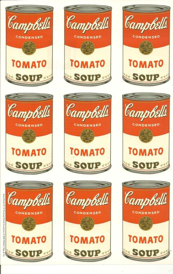 Andy Warhol Campbell Soup Paper