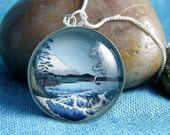 Blue Japanese Landscape for a Cause - Sterling Silver