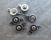 Gunmetal Plated Snap Clasp 7mm - 6 Clasp