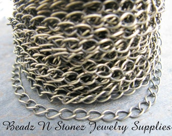 5 Feet Quality Antique Brass 4.2mm Curb Link Chain