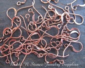Antique Copper Earwires - 20 Pair
