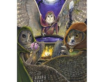Owl Women of Vaethiniel - Print