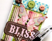 Sweet and Shabby Altered Notepad - Bliss