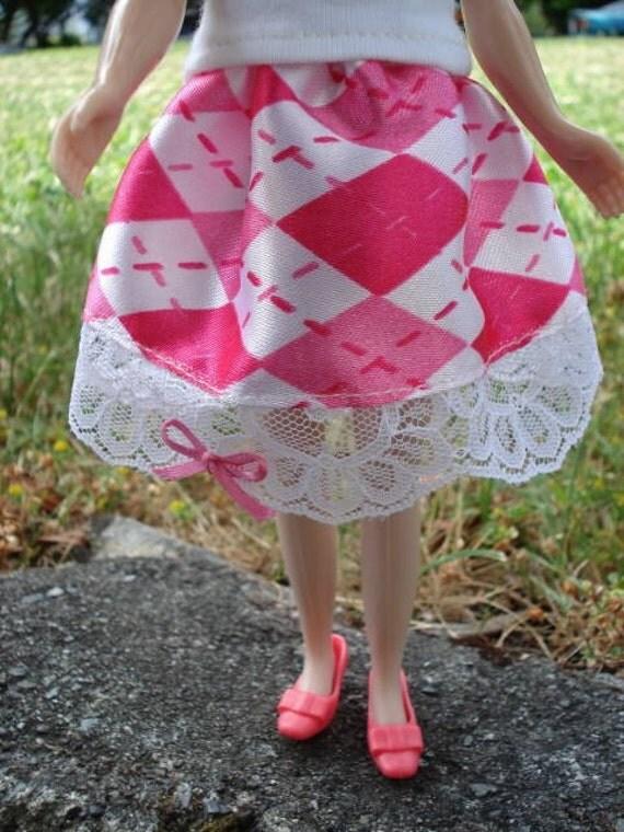 Blythe Argyle Pink Skirt