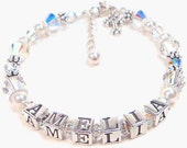 Personalized Swarovski First Communion Bracelet