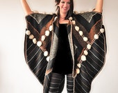 Handwoven Poncho With Pom-Poms - MADE TO ORDER