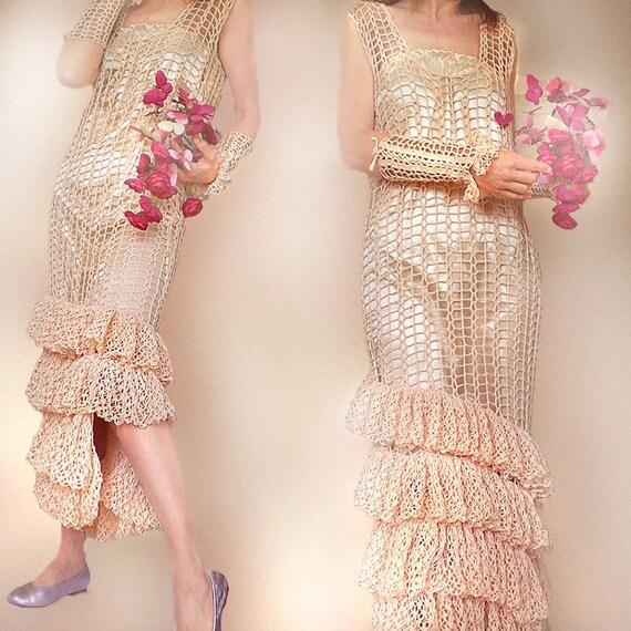 Peach Wedding Dress - MADE TO ORDER