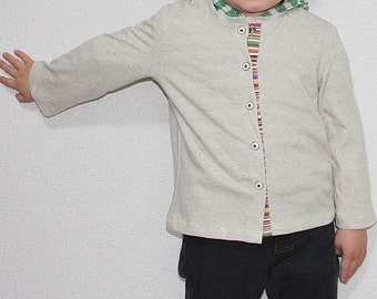 PDF e Pattern - Kids knit cardigan for 3 sizes for 1y, 2y and 3y - Baby and kids