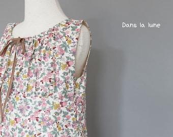 KIDS DRESS - PDF e pattern Fancy Dress - 2Y to 5Y for 4 sizes