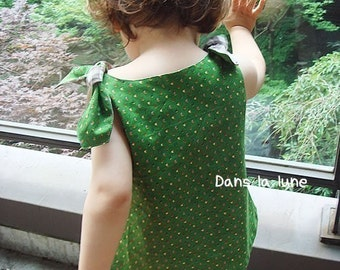 KIDS TOP - PDF e pattern - Flower top - 3 sizes between 1Y and 6Y