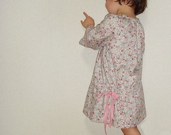 PDF e Pattern - Smock dress for 1Y  - Baby and kids