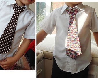 PDF e Pattern - Necktie/Tie for kids/Children for a little boys - about 18M to 5Y