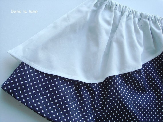 PDF e Pattern - Double skirt for Kids -  1Y -
