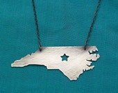 Black Star--NC Necklace with a Star cut out blackened silver