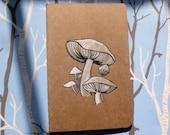 Wild Forest Mushroom Custom Mini Moleskine