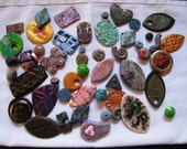 Mixed Lot Handmade Polymer Clay Beads