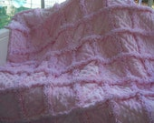 Soft and sweet pink minky baby girl rag quilt 32x41