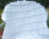 Reborn Pure White and sweet minky baby rag quilt 32x41