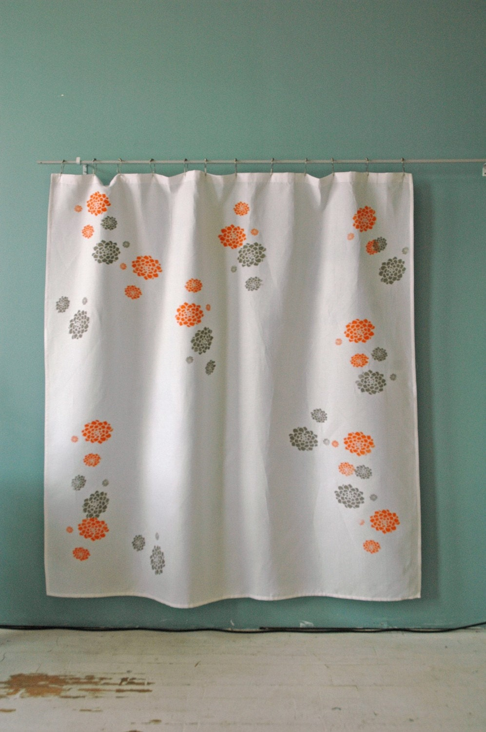 White Shower Curtain With Hens And Chicks Print By Appetitehome