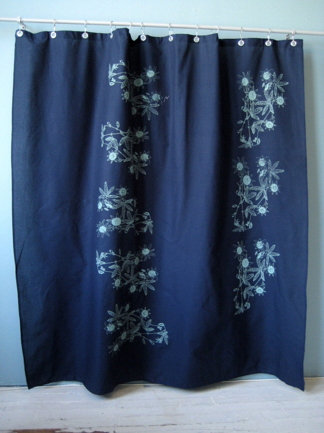Blue Passion Flower Shower Curtain By Appetitehome On Etsy