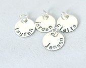 hand stamped personalized round disc charm handstamped add on to necklace...