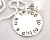 hand stamped personalized handstamped sterling silver necklace i am a CHILD OF GOD ...