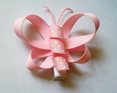 Pink Butterfly Hair Clip
