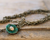 Strands of brass chain sparkle aged verdigris copper layered necklace Fashion Gift For Her Under 50 Seven jewerly
